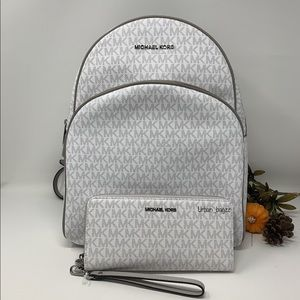 Michael Kors Abbey Large Backpack and Wallet